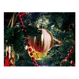 Gold Holiday Ornament Postcard