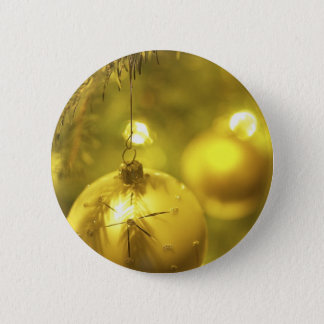 Gold Holiday Tree Decoration Button
