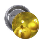 Gold Holiday Tree Decoration Pinback Button