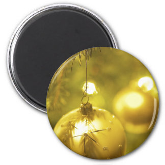 Gold Holiday Tree Decoration Refrigerator Magnets