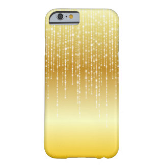 Gold Honey Amber Ombre White Strands Sparkle Barely There iPhone 6 Case