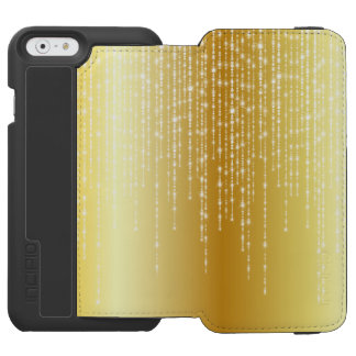 Gold Honey Amber Ombre White Strands Sparkle iPhone 6/6s Wallet Case