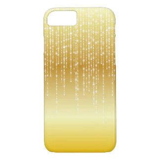 Gold Honey Amber Ombre White Strands Sparkle iPhone 8/7 Case