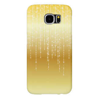Gold Honey Amber Ombre White Strands Sparkle Samsung Galaxy S6 Cases