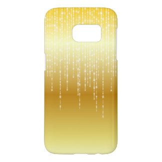 Gold Honey Amber Ombre White Strands Sparkle Samsung Galaxy S7 Case