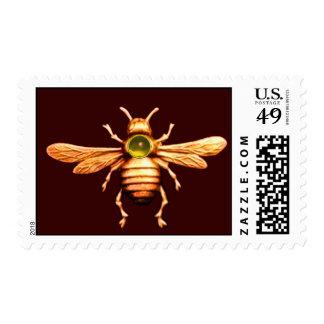 GOLD HONEY BEE / BEEKEEPER APIARIST BEEKEEPING POSTAGE STAMP