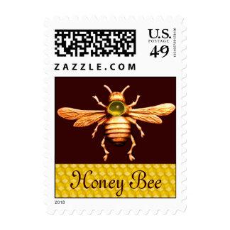 GOLD HONEY BEE / BEEKEEPER APIARIST BEEKEEPING POSTAGE STAMPS