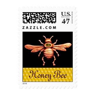 GOLD HONEY BEE / BEEKEEPER APIARIST BEEKEEPING POSTAGE