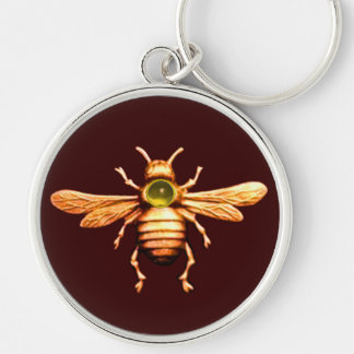 GOLD HONEY BEE KEYCHAIN