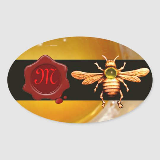 GOLD HONEY BEE RED WAX SEAL MONOGRAM ,BEEKEEPER