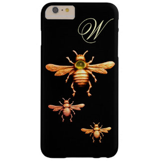 GOLD HONEY BEES MONOGRAM BARELY THERE iPhone 6 PLUS CASE