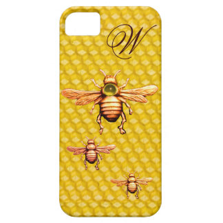 GOLD HONEY BEES MONOGRAM iPhone 5 COVERS