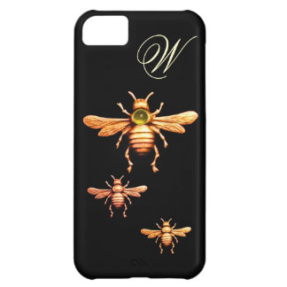 GOLD HONEY BEES MONOGRAM COVER FOR iPhone 5C