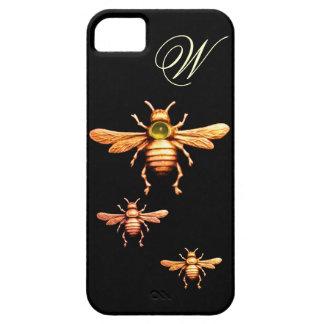 GOLD HONEY BEES MONOGRAM iPhone SE/5/5s CASE