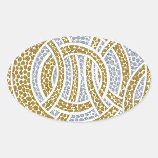gold hoops oval sticker