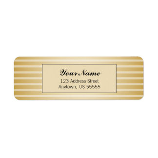 Gold Horizontal Stripes Label