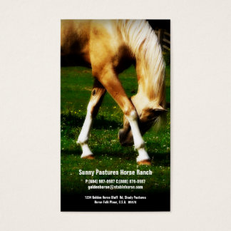 Gold Horse Riding Stables Boarding or Farrier Business Card