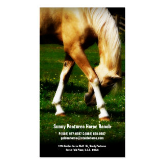 Gold Horse Riding Stables Boarding or Farrier Business Cards