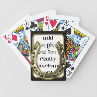 Gold Horse Shoe Frame Keepsake Photo Template Play Playing Cards