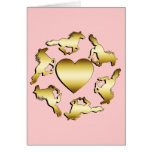 GOLD HORSES RING GREETING CARDS