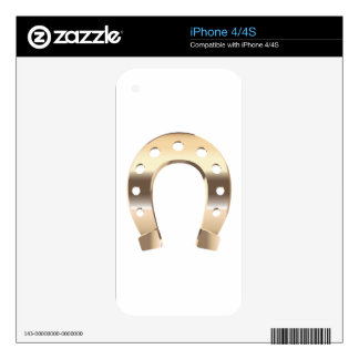 Gold horseshoe decal for the iPhone 4