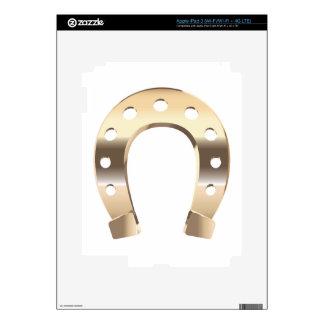 Gold horseshoe iPad 3 skins
