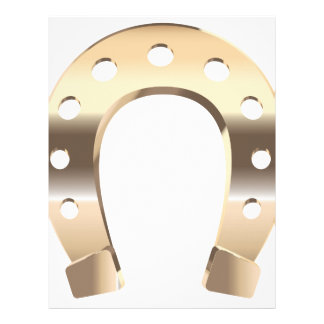 Gold horseshoe letterhead