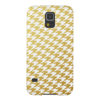 Gold Houndstooth Pattern Samsung Case Galaxy S5 Cases