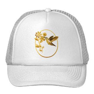 Gold Hummingbird framed Hat
