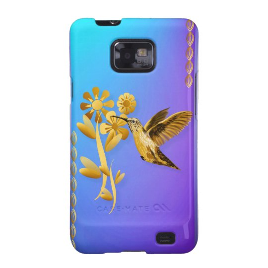 Gold Hummingbird iPhone Case