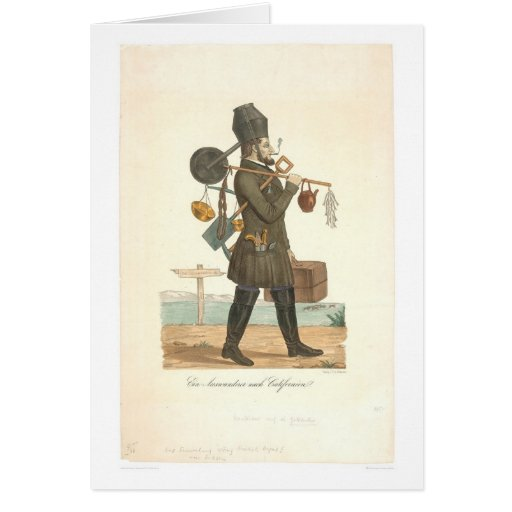 Gold Hunter going to CA. (0631A) Greeting Card
