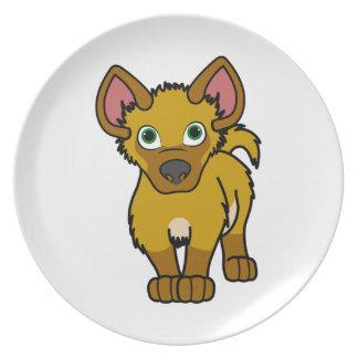 Gold Hyena Cub Dinner Plate