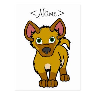 Gold Hyena Cub Postcard