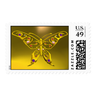 GOLD HYPER BUTTERFLY POSTAGE
