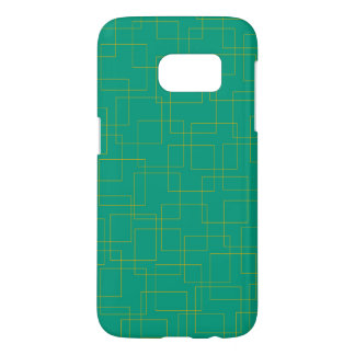 Gold Ice on Turquoise Samsung Galaxy S7 Case