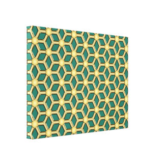 Gold II Tiled Hex Canvas