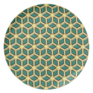 Gold II Tiled Hex Plate
