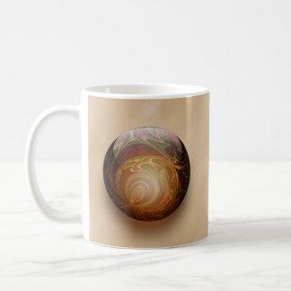 Gold Illuminated Spherical Gem Abstract Coffee Mug