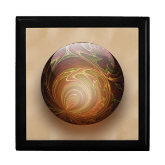 Gold Illuminated Spherical Gem Abstract Jewelry Box