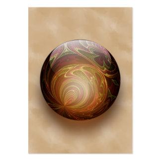 Gold Illuminated Spherical Gem Business Card Template