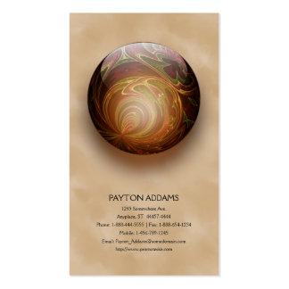 Gold Illuminated Spherical Gem, Custom Business Card Templates