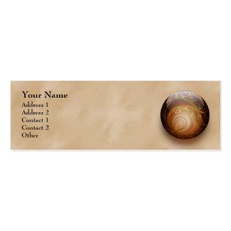 Gold Illuminated Spherical Gem, Custom Business Card