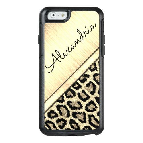 Gold  Illuminating Leopard Print Phone Case