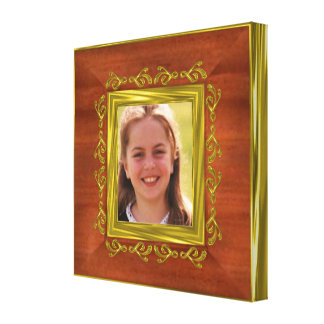Gold illusion photo border for wrapped print stretched canvas prints
