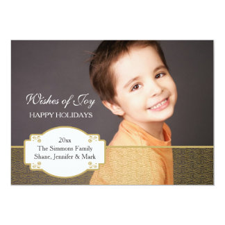 Gold Impression Photo Holiday Card