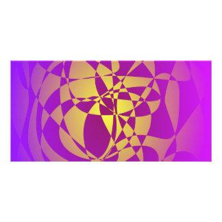 Gold in Purple Haze Photo Card Template