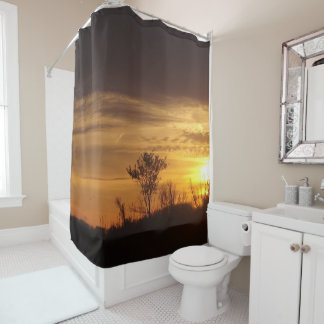 Gold In The Sky Shower Curtain