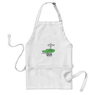 Gold Induced Anger Adult Apron