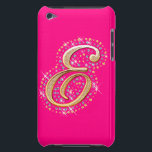 "Gold Initial &#39;&#39;E&#39;&#39; - Pink iPod Touch Case<br><div class=""desc"">Gold Initial &#39;&#39;E&#39;&#39; - Pink iPod Touch Case</div>"