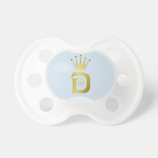 Gold Initial Letter D Baby Pacifier Crown Tiara